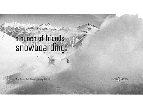 Different Direction - A bunch of friends snowboarding